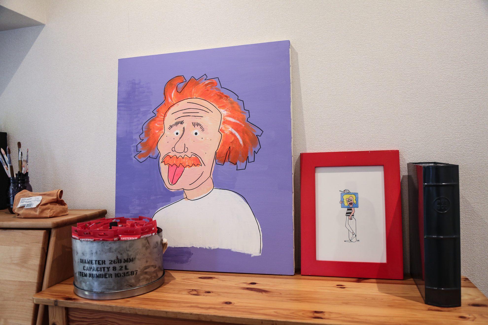 「息子が勉強しますように」とアインシュタインの絵を子供部屋に。笑